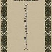 Macaleese Written In Ogham Poster