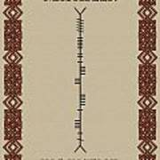 Macateer Written In Ogham Poster