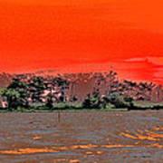 Louisiana Sunset Of The Madisonville Lighthouse  Poster