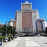 Madrid Building Poster