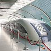 Maglev Train In Shanghai China Poster