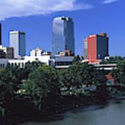 Main Street Bridge Across Arkansas Poster