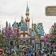 Main Street Sleeping Beauty Castle Disneyland 01 Poster