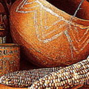 New Orleans Maize The Indian Corn Still Life In Louisiana  Poster