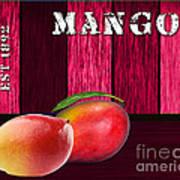 Mango Farm Sign Poster