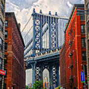 Manhattan Bridge View Poster