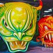 Mardi Gras Devils Poster by Gregory Dyer