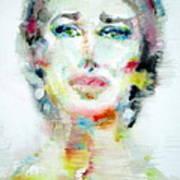 Maria Callas - Watercolor Portrait.2 Poster