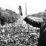 Martin Luther King The Great March On Washington Lincoln Memorial August 28 1963-2014 Poster