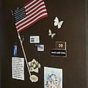 Mary Ann Guss' Patriotic Door Baldwin City Kansas 2002 Poster