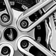 Mclaren Wheel Emblem Poster