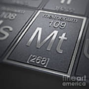 Meitnerium Chemical Element Poster