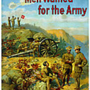 Men Wanted For The Army Poster