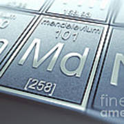 Mendelevium Chemical Element Poster
