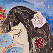 Mermaid Playing Magic Flute In Old Jaffa - Detail Poster