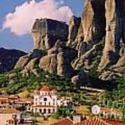 Meteora Greece Poster