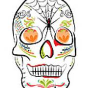Mexican Sugar Skull For Dia De Los Muertos Poster