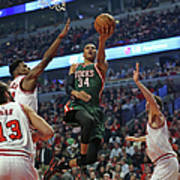 Milwaukee Bucks V Chicago Bulls - Game Poster