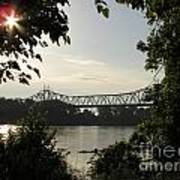 Missouri River Sunrise  Poster