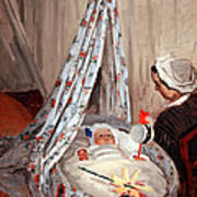 Monet's The Cradle -- Camille With Artist's Son Jean Poster