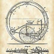 Monocycle Patent 1894 - Vintage Poster