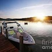 Morning Sun On The Lake Poster