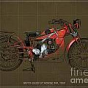 Moto Guzzi Gt Norge 500 1928 Poster