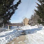 Motor Mill Winter Poster