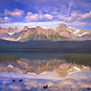 Mount Chephren And Waterfowl Lake Poster