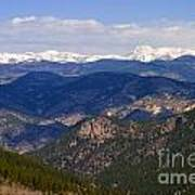 Mount Evans And Continental Divide Poster