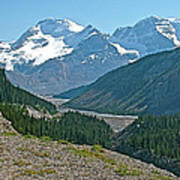 Mountain Peaks From Icefields Parkway-alberta Poster