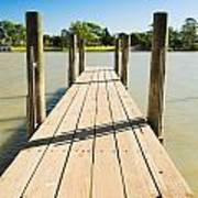 Murray River Jetty Poster