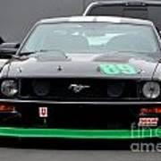 Mustang Race Car Poster