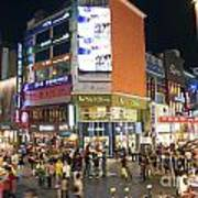 Myeongdong Shopping Street In Seoul South Korea Poster