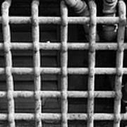 N Y C Grates In Black And White Poster
