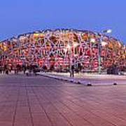 National Stadium Panorama Beijing China Poster by Colin and Linda McKie