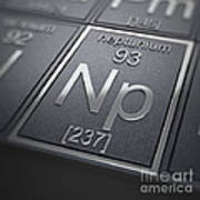 Neptunium Chemical Element Poster