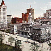 New York City Hall 1900 Poster