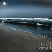 Night Beach  Poster by Artist and Photographer Laura Wrede