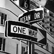 Ocean Drive And 6th Street In The Art Deco District Of Miami South Beach Florida Usa Poster by Joe Fox