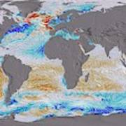 Ocean Surface Co2 And Winds Poster