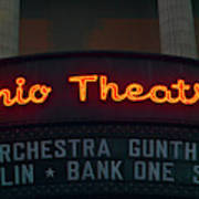 Ohio Theater Marquee Theater Sign Poster