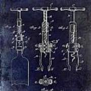 1898  Corkscrew Patent Drawing Poster