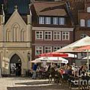 Old Market Square Stralsund Germany Poster by David Davies
