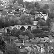 Old Stirling Bridge And Houses As Visible From Stirling Castle Poster