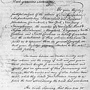 Olive Branch Petition, 1775 Poster