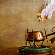 Orchid And Copper Fondue Poster