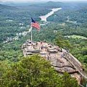 Overlooking Chimney Rock And Lake Lure Poster