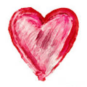 Painted Heart - Symbol Of Love Poster