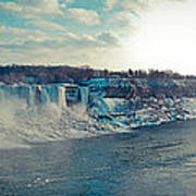 Panorama - Niagara Falls In Winter Poster